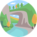 nature, landscape, river, scenery DarkSeaGreen icon