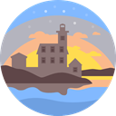 scenery, nature, Lighthouse, landscape Silver icon