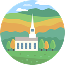 nature, landscape, church, scenery CadetBlue icon