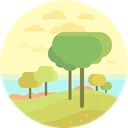 nature, landscape, trees, scenery LemonChiffon icon