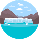 nature, landscape, scenery, glacier LightBlue icon