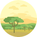 nature, landscape, scenery, Savannah LemonChiffon icon