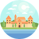 nature, landscape, Castle, scenery, Monuments LightCyan icon