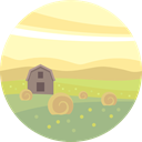 field, nature, landscape, Farm, scenery LemonChiffon icon