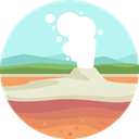 nature, landscape, scenery, geyser Icon