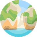 landscape, Coast, scenery, nature DarkKhaki icon