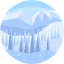 nature, winter, landscape, Forest, scenery LightBlue icon