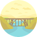 nature, landscape, bridge, scenery LemonChiffon icon