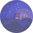 nature, landscape, scenery, observatory Icon