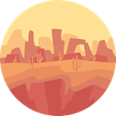 scenery, nature, landscape, Desert Khaki icon