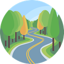 nature, landscape, Road, scenery CadetBlue icon