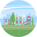 nature, landscape, Playground, scenery LightBlue icon