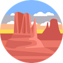scenery, Canyon, nature, landscape IndianRed icon