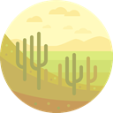 nature, landscape, Desert, scenery DarkKhaki icon