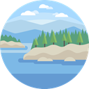 scenery, nature, landscape, Coast SkyBlue icon