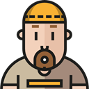 worker, Social, people, user, profile, Avatar Black icon