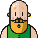 people, user, Facial Hair, profile, Avatar, Social, Beard Black icon