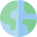 Maps And Location, worldwide, Maps And Flags, Planet Earth, Earth Globe, global, Geography SkyBlue icon