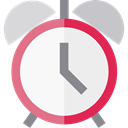 Time And Date, Clock, time, timer, alarm clock, Tools And Utensils WhiteSmoke icon