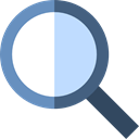 search, magnifying glass, zoom, detective, Loupe, Tools And Utensils, Seo And Web Black icon