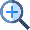 Multimedia, magnifying glass, interface, lens, ui, Loupe, Zoom in, Tools And Utensils Icon