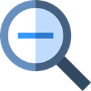 search, magnifying glass, zoom, detective, ui, Loupe, Zoom out, Tools And Utensils Black icon