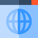 Browser, internet, url, ui, worldwide LightSkyBlue icon