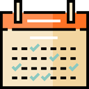 Calendar, time, date, Schedule, interface, Administration, Organization, Calendars, Time And Date Bisque icon