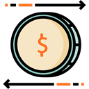Business, Money, commerce, Coins, Business And Finance, Commerce And Shopping, Dollar, Currency, exchange, finances Black icon