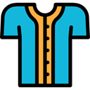 team, equipment, Shirt, baseball, Clothes, fashion, uniform, Sports And Competition DarkTurquoise icon
