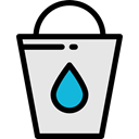 Bucket, water, Refreshment, Food And Restaurant Icon