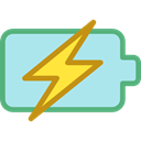 Energy, Battery, charge, power, Bolt, charging, technology, electronics PaleTurquoise icon