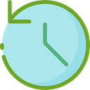 time, stopwatch, timer, interface, Chronometer, Wait, Tools And Utensils, Time And Date PaleTurquoise icon