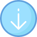 Archive, Import, interface, ui, document, Arrows, File, Arrow, option, signs LightSkyBlue icon