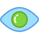 view, medical, interface, Eye, visible, ui, Visibility LightSkyBlue icon