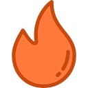 miscellaneous, fire, Element, Flame, nature, Burning, danger Coral icon