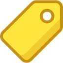 Label, tag, shopping, Price, Shop, ui, price tag Gold icon
