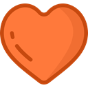 Favorite, Heart, Favourite, rate, shapes, signs, Shapes And Symbols Coral icon