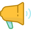 megaphone, ui, loudspeaker, shout, protest, announcer, Tools And Utensils SandyBrown icon