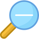 search, magnifying glass, zoom, Zoom out, Tools And Utensils, detective, ui, Loupe LightSkyBlue icon