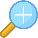 Multimedia, magnifying glass, interface, lens, ui, Loupe, Zoom in, Tools And Utensils LightSkyBlue icon