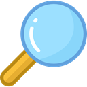 search, ui, Loupe, Tools And Utensils, magnifying glass, zoom, detective LightSkyBlue icon