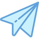 Message, paper plane, childhood, Origami, Airplane Origami, Art And Design LightCyan icon