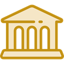 Bank, temple, buildings, museum, Business, urban, Monuments, Architectonic Bisque icon