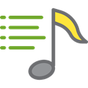 playlist, music note, Quaver, Music And Multimedia, Multimedia, music Black icon