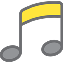 music, Quaver, Music And Multimedia, interface, music player, song, musical note Black icon
