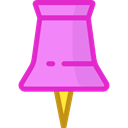 Attachment, ui, push pin, Tools And Utensils, School Material, Office Material Violet icon