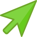 Arrows, Arrow, Mouse, web, Cursor, point, interface, Pointer, ui, computer mouse YellowGreen icon