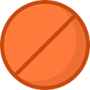 cancel, forbidden, shapes, symbol, prohibition, signs Coral icon