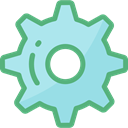 Gear, settings, configuration, ui, cogwheel, Tools And Utensils MediumSeaGreen icon